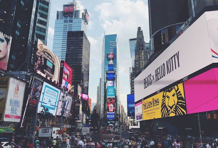 Time Square, New York, collaborative marketing gets together brands and consumers