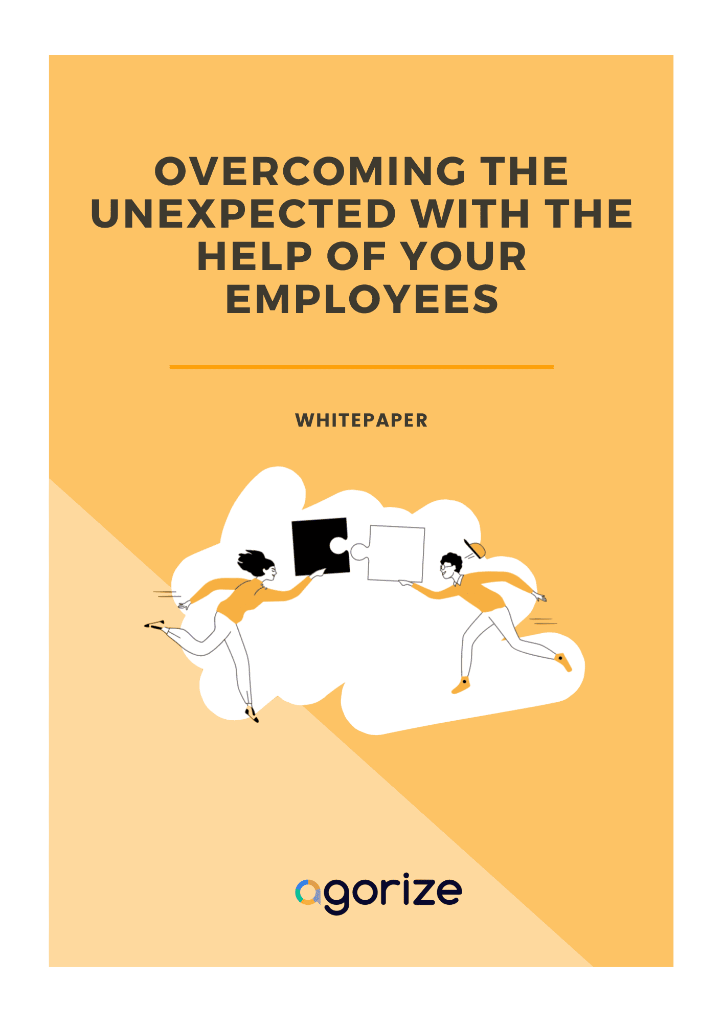 cover of the whitepaper overcoming the unexpected with the help of your employees