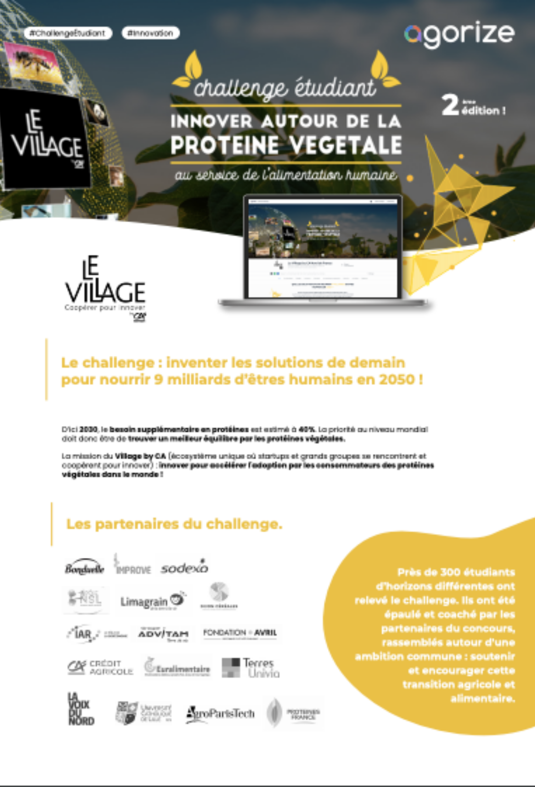 poster uc le village by ca