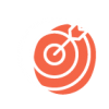 reverse red target icon